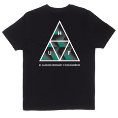 HUF - Premiere Triple Triangle Men's Tee, Black - The Giant Peach
