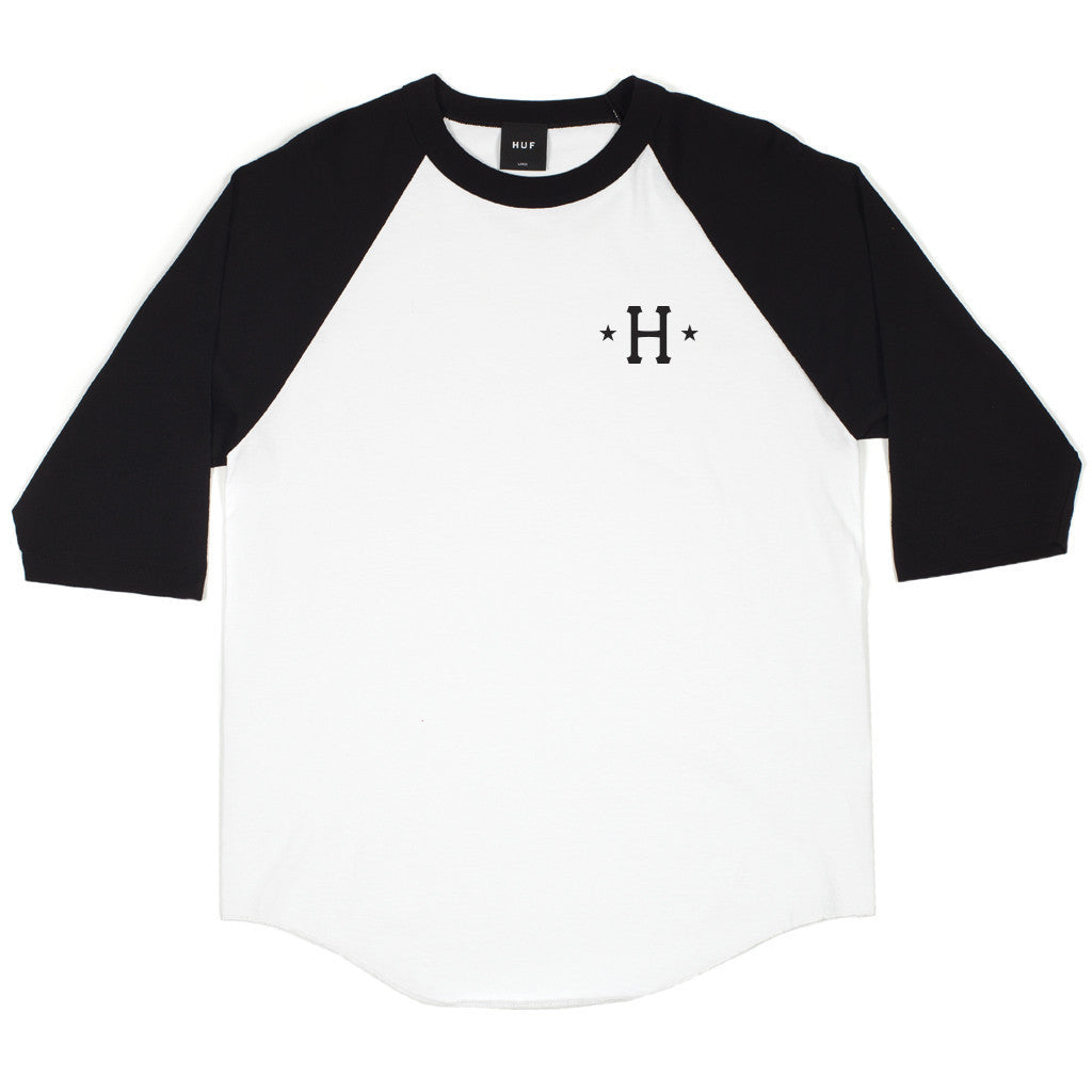HUF - Swing Kings Men's Raglan Tee, Black - The Giant Peach - 2