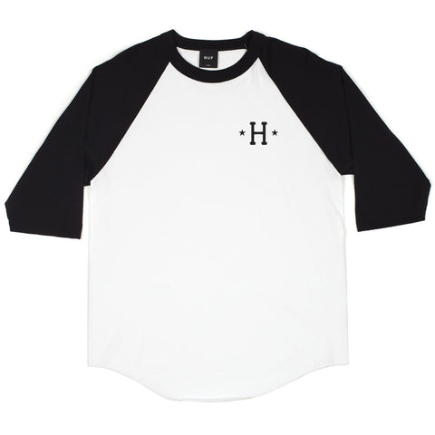 HUF - Swing Kings Men's Raglan Tee, Black