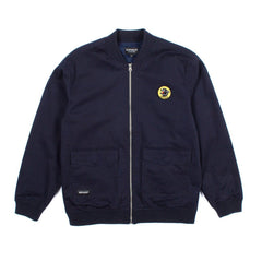 RIPNDIP - Panther Varsity Men's Jacket, Navy - The Giant Peach