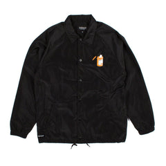 RIPNDIP - Nermal Pills Men's Coaches Jacket, Black - The Giant Peach