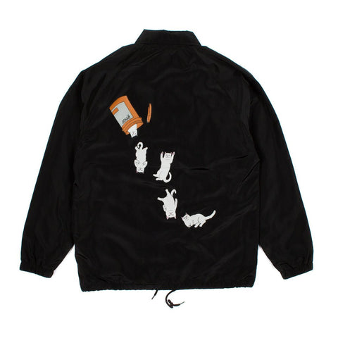 RIPNDIP - Nermal Pills Men's Coaches Jacket, Black