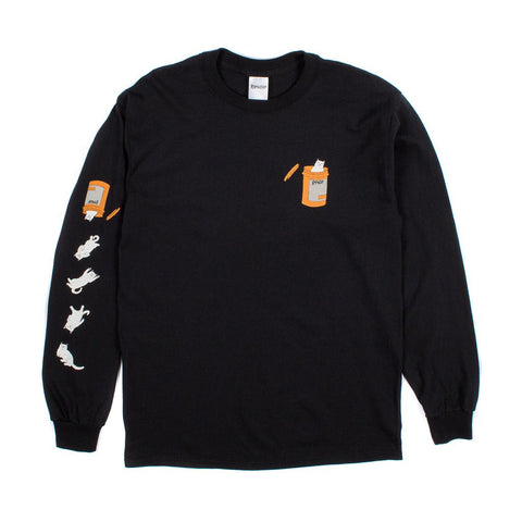 RIPNDIP - Nermal Pills Men's L/S Tee, Black