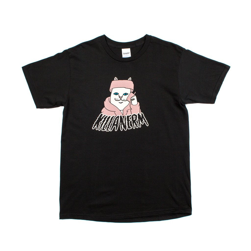 RIPNDIP - Killa Nerm Men's Tee, Black - The Giant Peach
