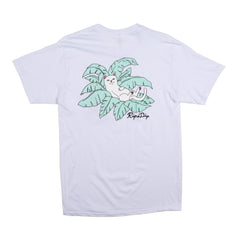 RIPNDIP - Nermal Leaf Men's Pocket Tee, White - The Giant Peach