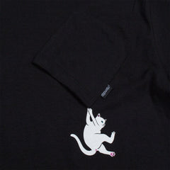 RIPNDIP - Hang In There Men's Pocket Tee, Black - The Giant Peach