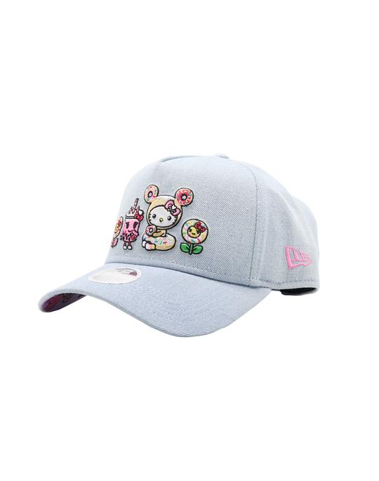 tokidoki x Hello Kitty- Spring Boba Kitty Snapback Hat, Blue