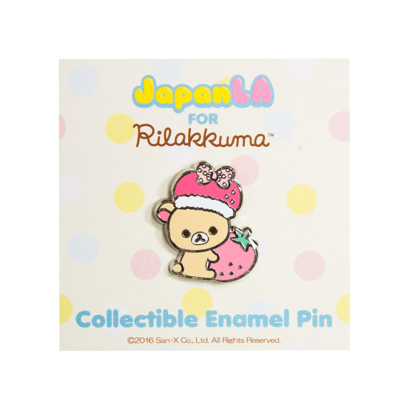 JapanLA - Korilakkuma Strawberry King Enamel Pin - The Giant Peach