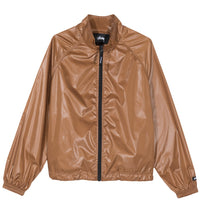 Stussy - Langley Women's Shiny Zip Jacket, Tan