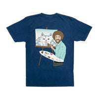RIPNDIP - Beautiful Mountain Men's Tee, Blue Mineral Wash