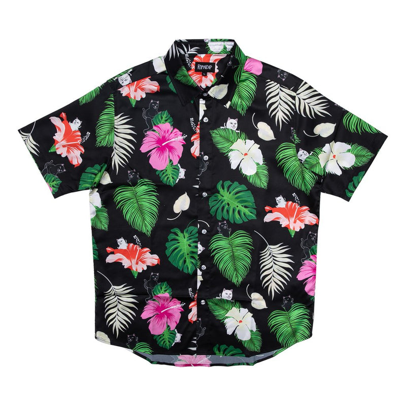 RIPNDIP - Maui Nerm Men's Button Up Shirt, Black