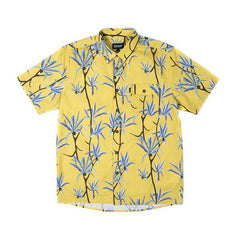 RIPNDIP - Coconuts Men's Button Up Shirt, Yellow - The Giant Peach