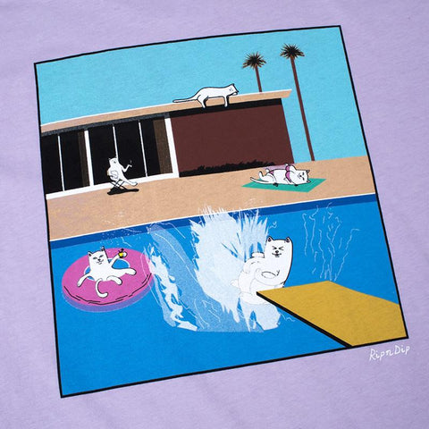 RIPNDIP - A Nermal Splash Men's Pocket Tee, Lavender