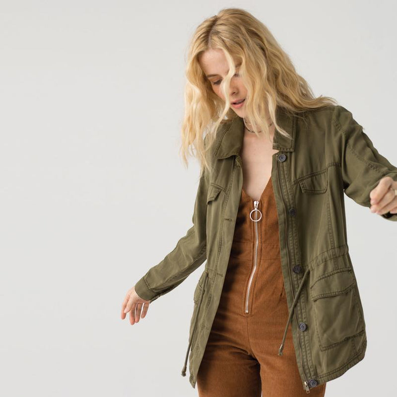 Thread & Supply - Ayla Women's Anorak Jacket, Olive - The Giant Peach
