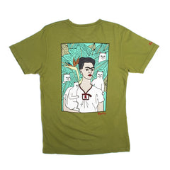 RIPNDIP - Nermal Frida Men's Tee, Military Green - The Giant Peach