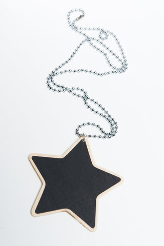 Rainbow Starr - Riley necklace, black