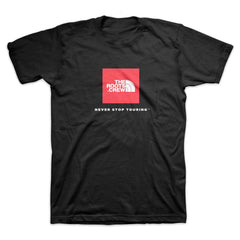 The Roots - Never Stop Touring Men's Shirt, Black - The Giant Peach
