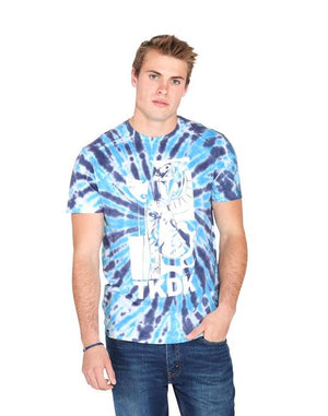 tokidoki TKDK - Tie Dye Snake Girl Men's Shirt, Blue