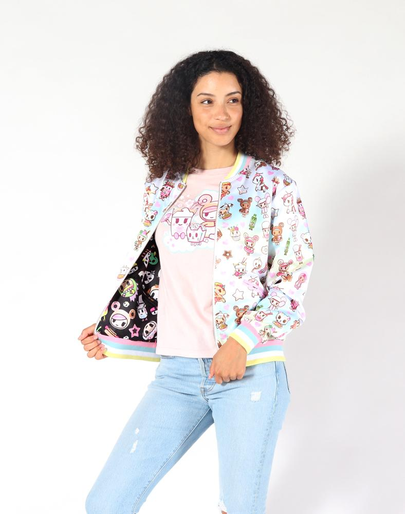 tokidoki Toki Sweetie Women's Reversible Jacket, Multi