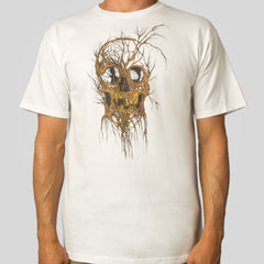 Alex Pardee - Tree Skull Men's Shirt, White - The Giant Peach