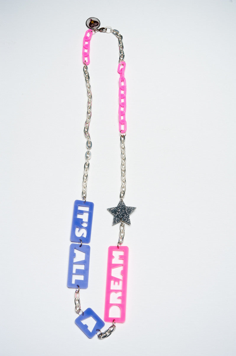 TRiXY STARR - All A Dream Necklace, Silver/purple/Pink - The Giant Peach - 1