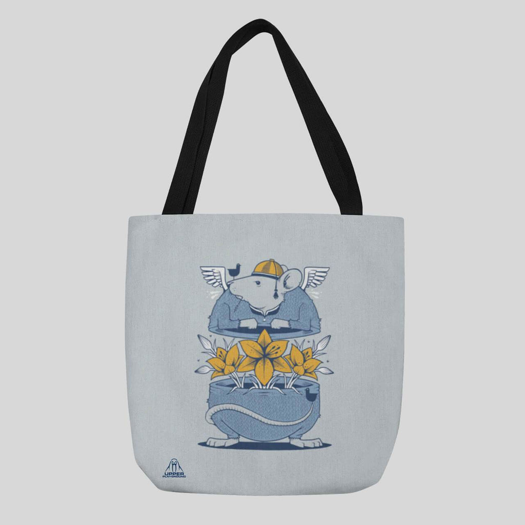 Upper Playground - Jeremy Fish The Rat Race Tote Bag