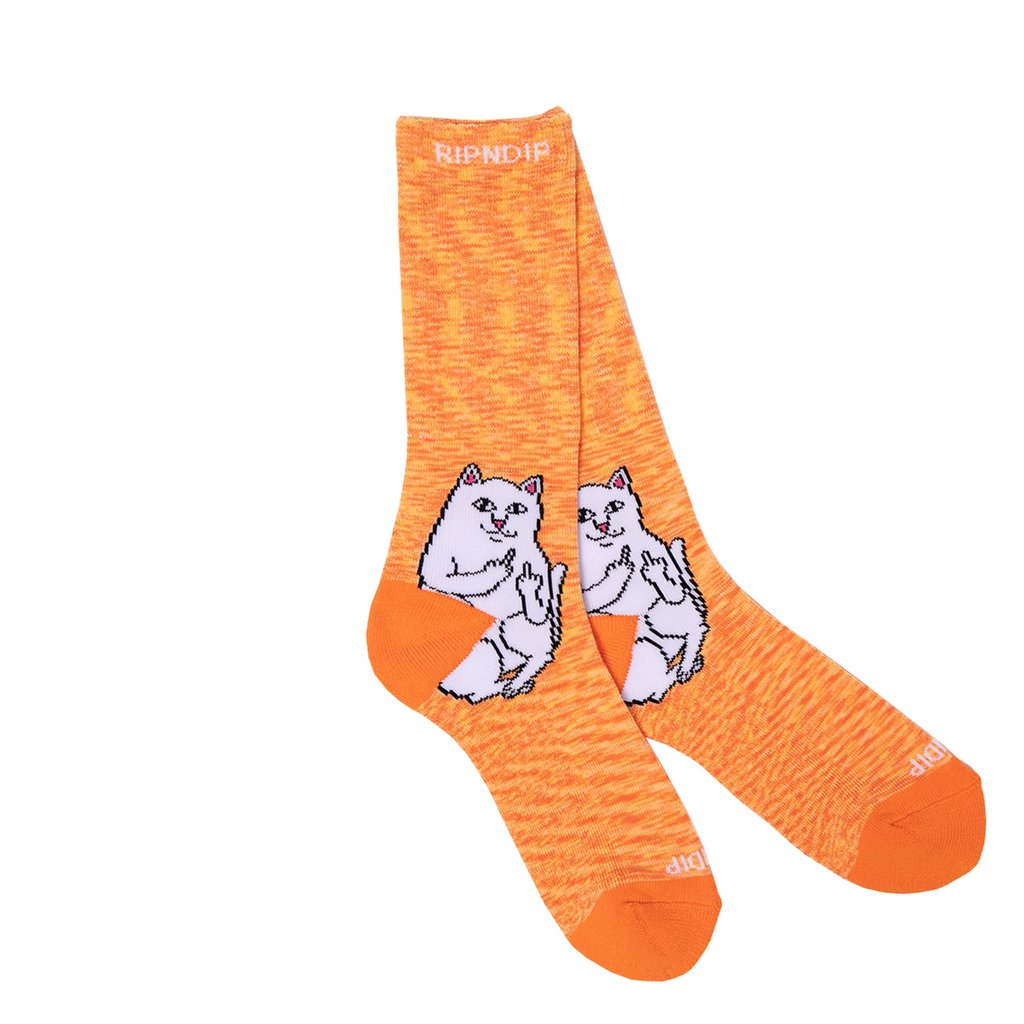 RIPNDIP - Lord Nermal Socks, Orange Speckle