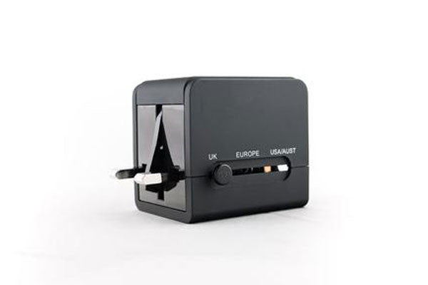 Akomplice - World Power Adapter, Black - The Giant Peach - 1