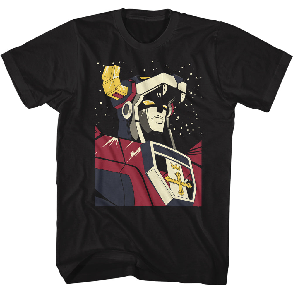 Voltron - Voltron In Space Men's Shirt, Black