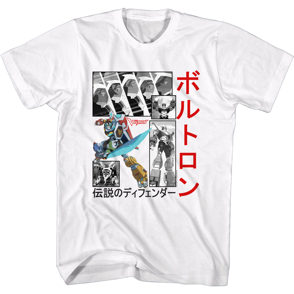Voltron - Squares & Japanese Men's Shirt, White