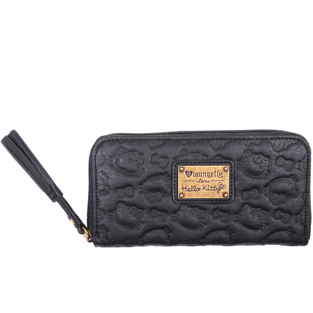 Loungefly - Hello Kitty Embossed Wallet, Black - The Giant Peach - 1