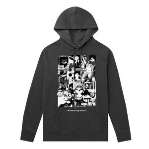 HUF - Where Is My Mind Men's P/O Hoodie, Black