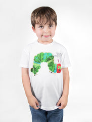 Out Of Print - The Very Hungry Caterpillar Kid's Tee, White - The Giant Peach