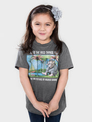 Out Of Print - Where the Wild Things Are Kid's Tee, Heather Charcoal - The Giant Peach