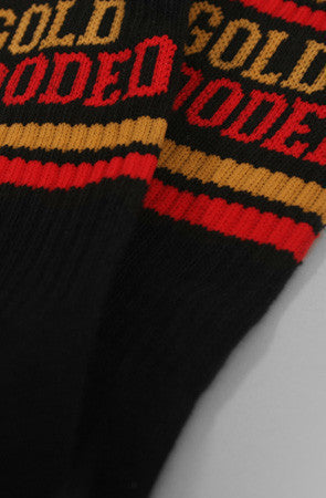 Adapt - Gold Blooded Men's Socks, Black - The Giant Peach