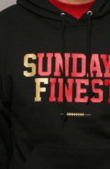 Adapt - Sunday's Finest Pullover Men's Hoodie, Black/Gold - The Giant Peach - 2