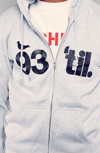 Adapt x Souls of Mischief - 93 'til Infinity Men's Zip Hoodie, Grey - The Giant Peach