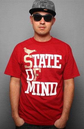 Adapt - State of Mind Men's Shirt, Cardinal/Gold - The Giant Peach