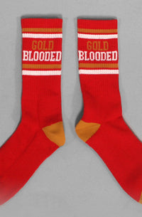 Adapt - Gold Blooded Men's Socks, Red - The Giant Peach