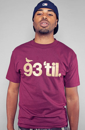 Adapt x Souls of Mischief  - 93 'til Infinity Men's Shirt, Maroon/Gold