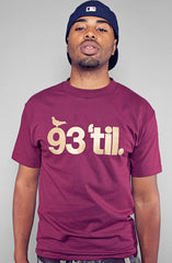 Adapt x Souls of Mischief  - 93 'til Infinity Men's Shirt, Maroon/Gold - The Giant Peach