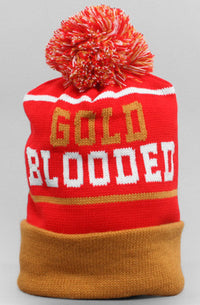 Adapt - Gold Blooded Beanie, Red/Gold - The Giant Peach