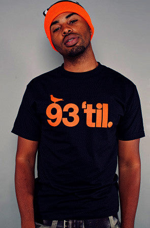 Adapt x Souls of Mischief  - 93 'til Infinity Men's Shirt, Black/Orange