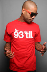 Adapt x Souls of Mischief - 93 'til Infinity Men's Shirt, Red - The Giant Peach