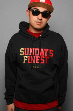 Adapt - Sunday's Finest Pullover Men's Hoodie, Black/Gold - The Giant Peach