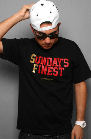 Adapt - Sunday's Finest Men's Shirt, Black/Gold - The Giant Peach