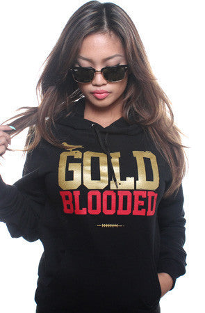Adapt - Gold Blooded  Women's Hoodie, Black - The Giant Peach