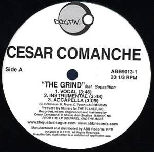 "Cesar Comanche - The Grind feat. Supastition, 12"" Vinyl - The Giant Peach"