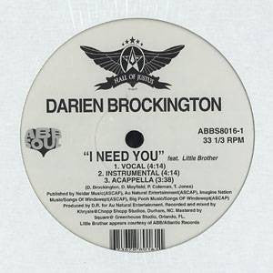 "Darien Brockington - Think It Over/I Need You, 12"" Vinyl - The Giant Peach"
