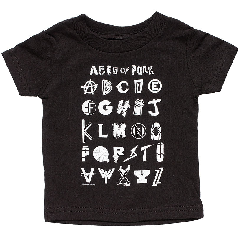 ABC's of Punk Toddler Tee, Black